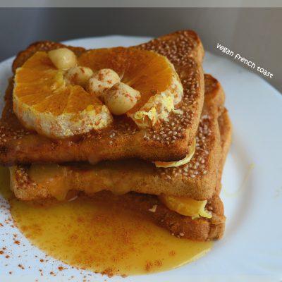 Vegán rakott french toast