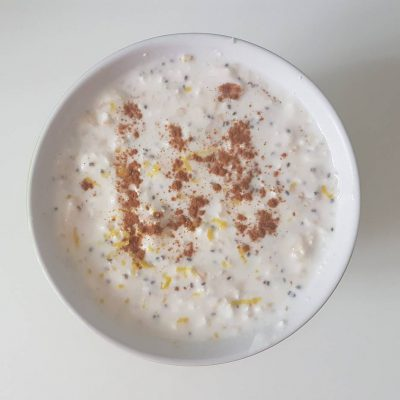 Joghurtos zabos túrós reggeli
